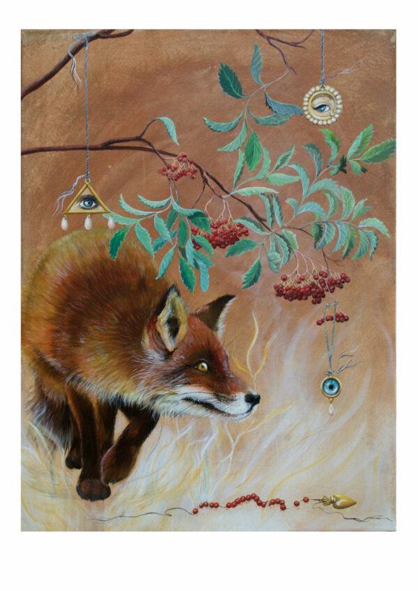 art print lige under din naese by artist lisbeth thygesen