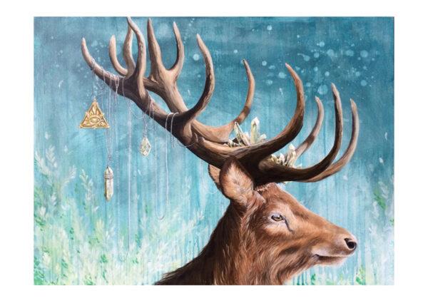 A dear deer, art print, kunsttryk, Lisbeth Thygesen