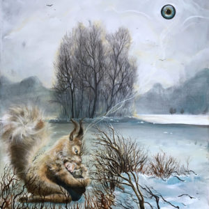 Brave, vulnerable, modig, sårbar, Lisbeth Thygesen, kunst, art, maleri, painting