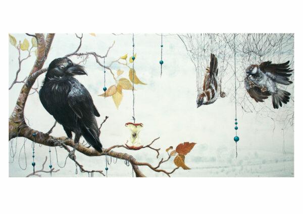 Caught in a net, art print, kunsttryk, Lisbeth Thygesen