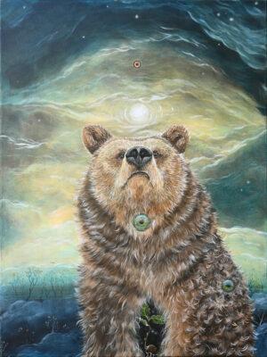 Lisbeth Thygesen, bear, ursa, bjørn, maleri, painting, art, kunst