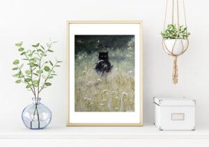 Nature spirit, art print, kunsttryk, Lisbeth Thygesen, A3