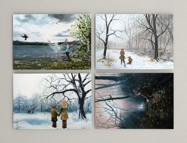 Postkort, nature child, Lisbeth Thygesen