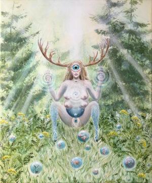 Primordial mother, urmoder, Lisbeth Thygesen, art, artist, kunst, kunstner, maleri, painting