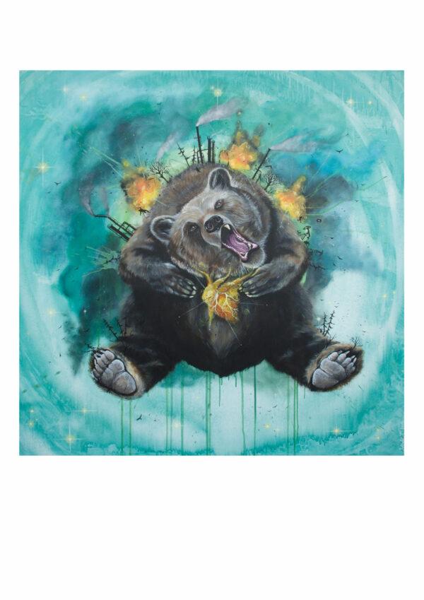 Bear, bjørn, art print, kunsttryk, Lisbeth Thygesen
