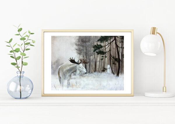 moose, elg, Lisbeth Thygesen, art print, kunsttryk
