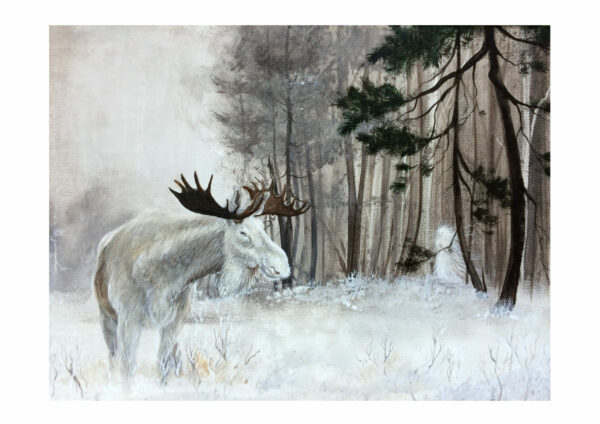 Forest spirit, skov ånd, Lisbeth Thygesen, art print, kunsttryk