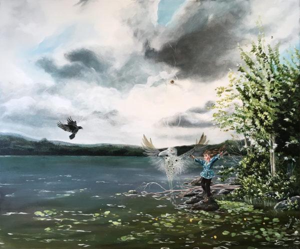 Can I touch the sky, Lisbeth Thygesen, art, kunst, maleri, painting, original
