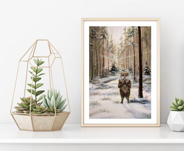 The gentle giant, art print, kunsttryk, Lisbeth Thygesen