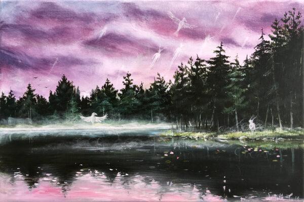 Lisbeth Thygesen, the ones left behind, acrylic, painting, akryl, maleri, kunst, art