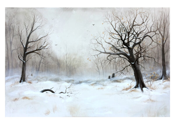 Winter meeting, art print, kunsttryk, Lisbeth Thygesen