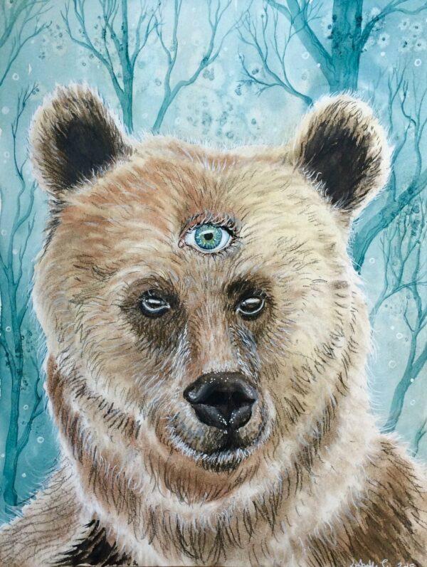 bear, bjørn, mixed media, Lisbeth Thygesen