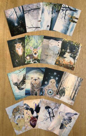 Postcards, postkort, Lisbeth Thygesen,