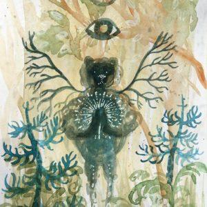 bear, Lisbeth Thygesen ,akvarel, watercolor