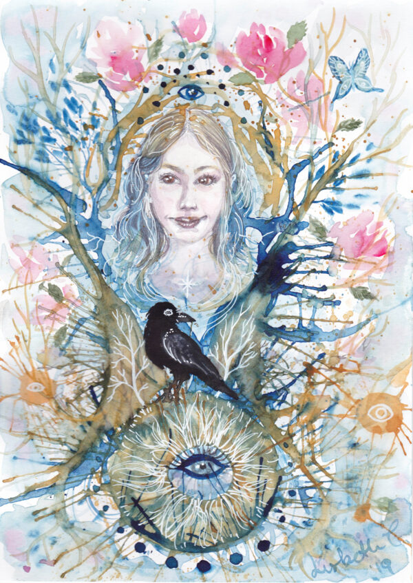 Intuitive spring, watercolor