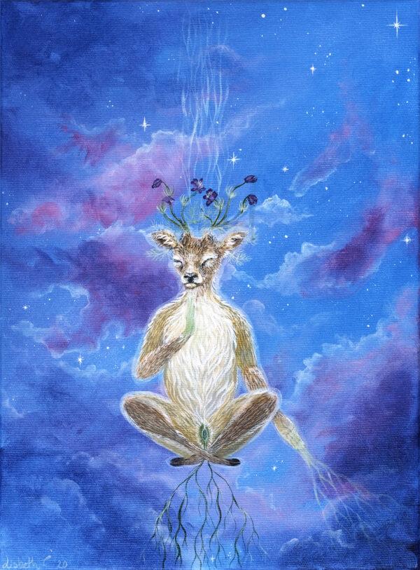 Lisbeth Thygesen, a peaceful mind, art, kunst, original, maleri, painting