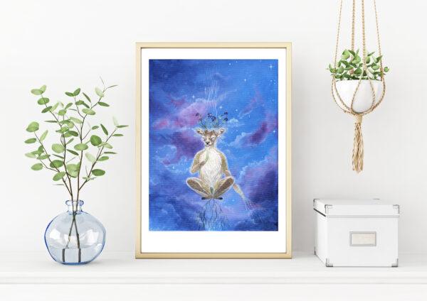 A peaceful mind, Gicleé, art print, kunsttryk, Lisbeth Thygesen