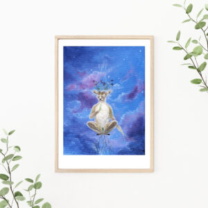 A peaceful mind, Gicleé, art print, kunsttryk, Lisbeth Thygesen