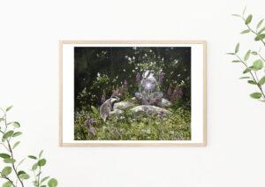 Giclée art print: Badger wisdom. Limited edition.