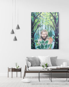 Original painting: Green man