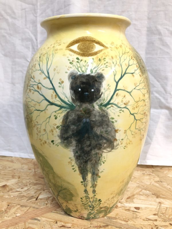 Bear spirit, ceramics, Lisbeth Thygesen