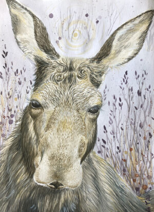 Elg, älk, Moose, magic, Lisbeth Thygesen