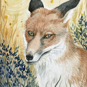 Skeptic fox by Lisbeth Thygesen