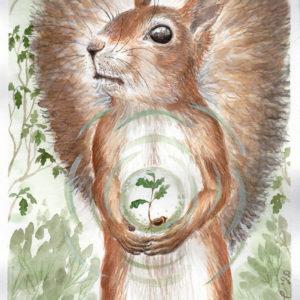 The guardian of the oak by Lisbeth Thygesen