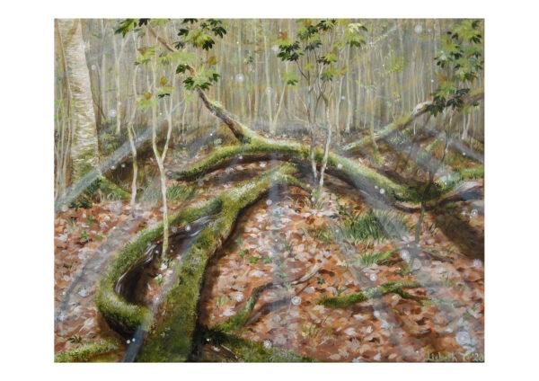 Forest talks 1, art print, kunsttryk, Lisbeth Thygesen