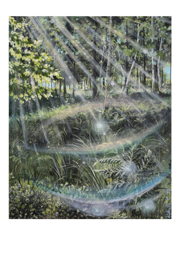 Forest talks 3, art print, kunsttryk, Lisbeth Thygesen