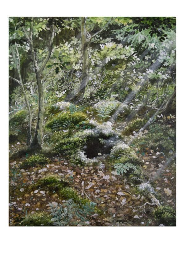 Forest talks 3, art print, kunsttryk, Lisbeth Thygesen