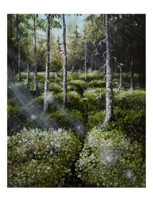 Forest talks 4, art print, kunsttryk, Lisbeth Thygesen
