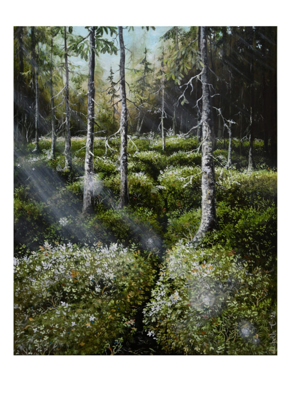 Forest talks 4, art print, kunsttryk, Lisbeth Thygesen