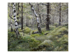 Forest talks 5, art print, kunsttryk, Lisbeth Thygesen