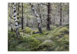 Forest talks 5, art print, kunsttryk, Lisbeth Thygesen