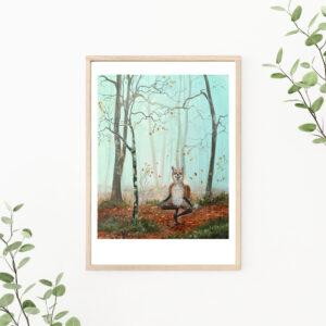 Lisbeth Thygesen, art print, kunsttryk, fox, ræv