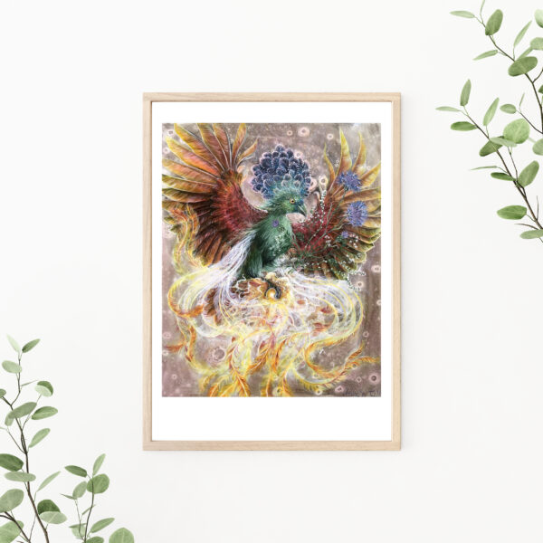 Phoenix, Lisbeth Thygesen, art print, kunsttryk