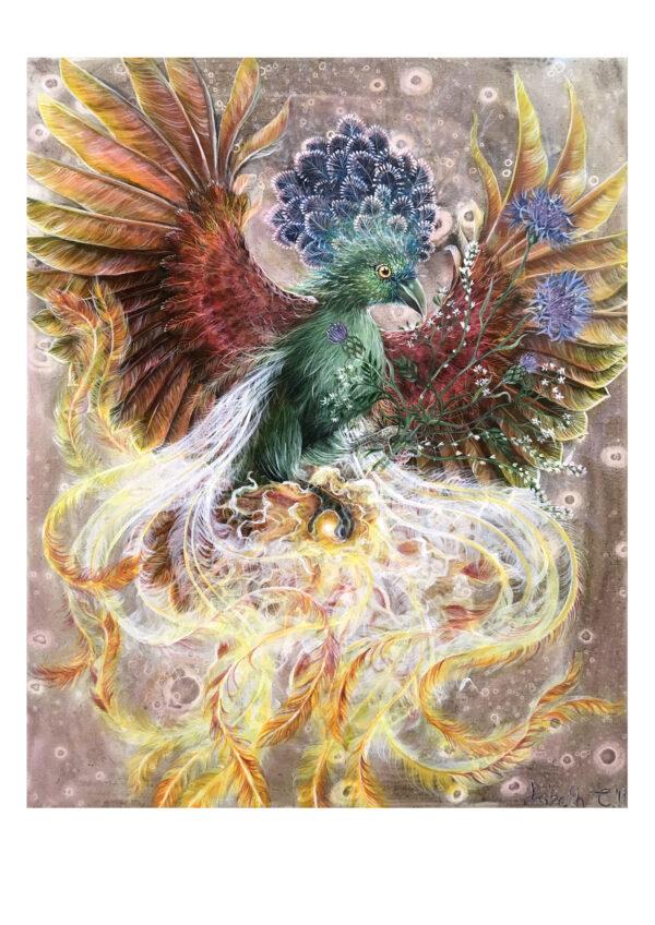 Phoenix, art print, kunsttryk, Lisbeth Thygesen