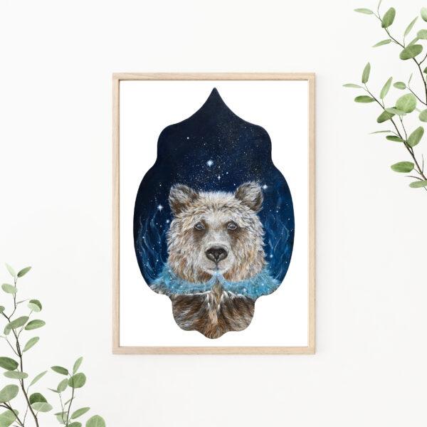 Lisbeth Thygesen, art print, kunsttryk, bear, bjørn