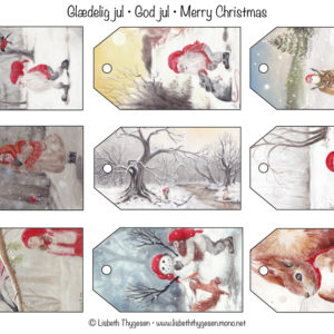 Jul, gaver, gavemærker, Lisbeth Thygesen