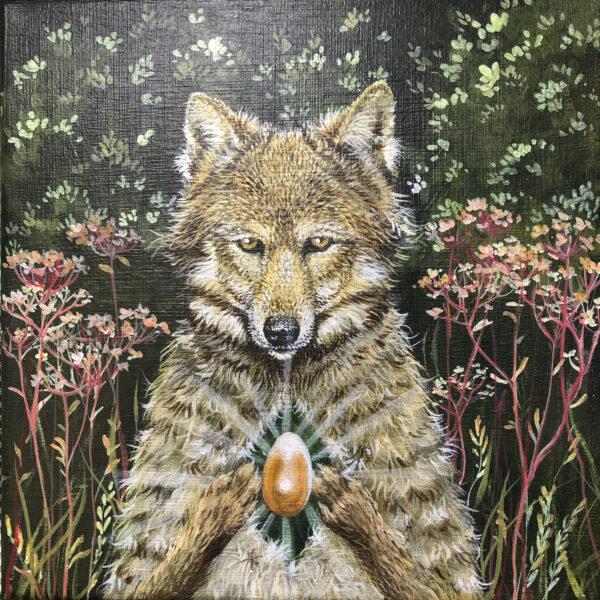 Lisbeth Thygesen, maleri, kunst, ulv