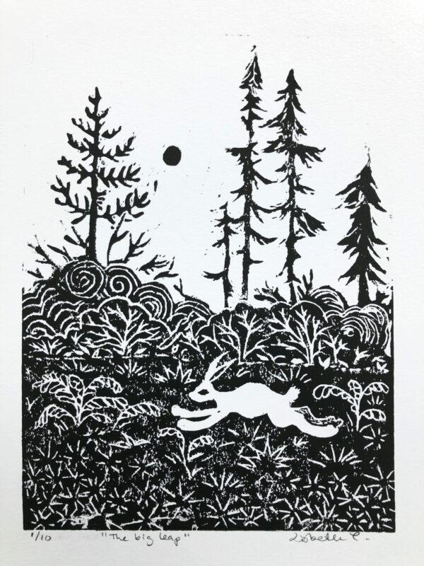 Lisbeth Thygesen, lino cut art print, kunsttryk, linoleumstryk