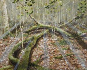Lisbeth Thygesen, maleri, skov shamanisme