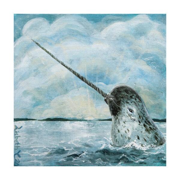 Unicorn of the ocean, Lisbeth Thygesen, kunsttryk, giclée, art print