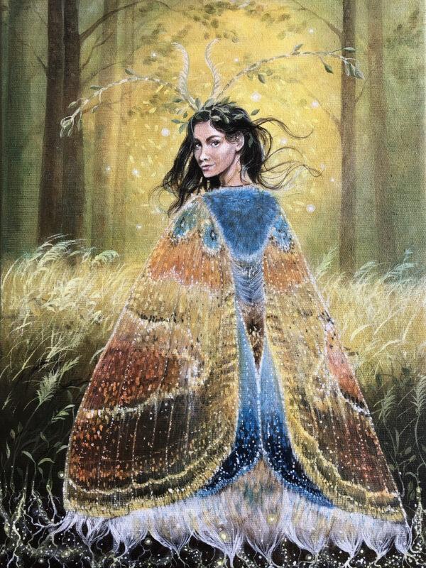 maleri, Lisbeth Thygesen, figurativ, kunst, kunstner, dansk, shaman, shamanisme, spirituel, magi, eventyr, original