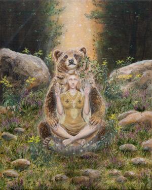 Bear medicine af billedkunstner Lisbeth Thygesen