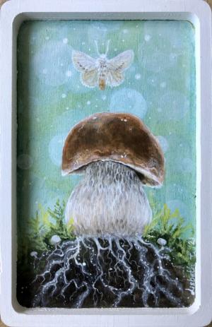 Lisbeth Thygesen, svamp, Magical myceleum, maleri, kunst, kunstner